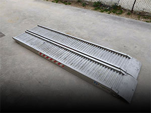 Used aluminium ramps