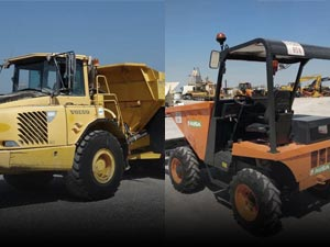 Dumpers, minidumpers and power barrows