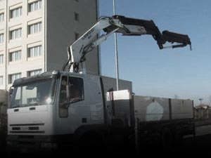 Used Tipper and crane