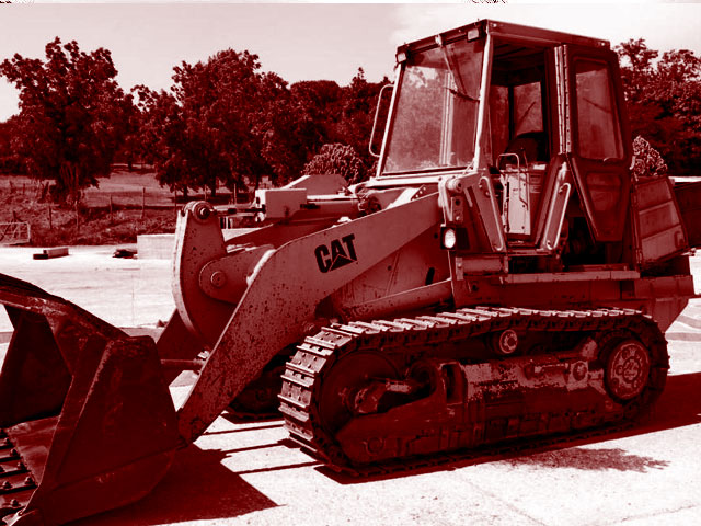 Used track loaders weighing from 13 to 17T