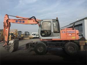 Used wheeled excavators