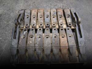 Used worn equipment's spare parts