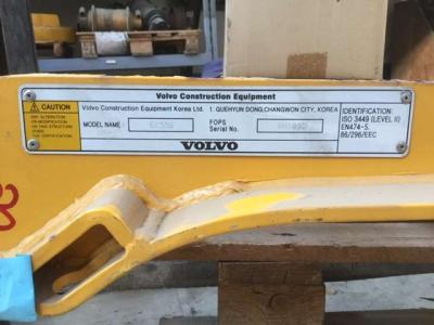 Fops protection system for Volvo EC 55B sold by Carmi Spa Oleomeccanica