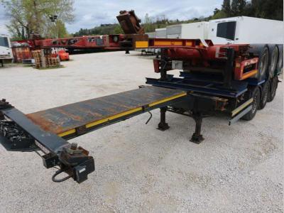 Lecitrailer Container chassis semi-trailer sold by Bartoli Rimorchi S.p.a.